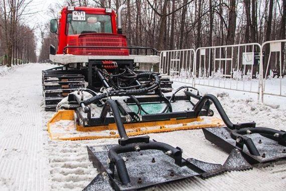 В «Сокольниках» начала работу всепогодная лыжная трасса