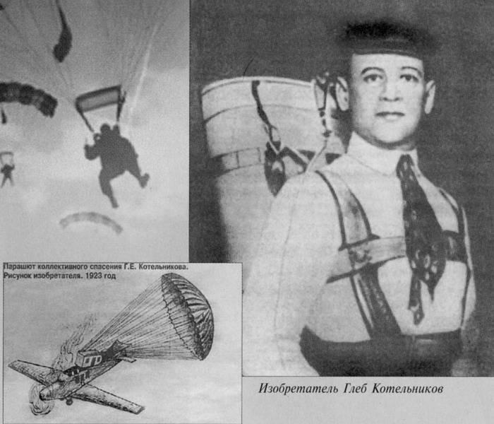 Глеб Котельников- «Изобретатель авиационного парашюта