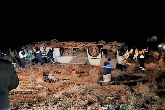 В Казахстане перевернулся автобус. Семь человек погибли