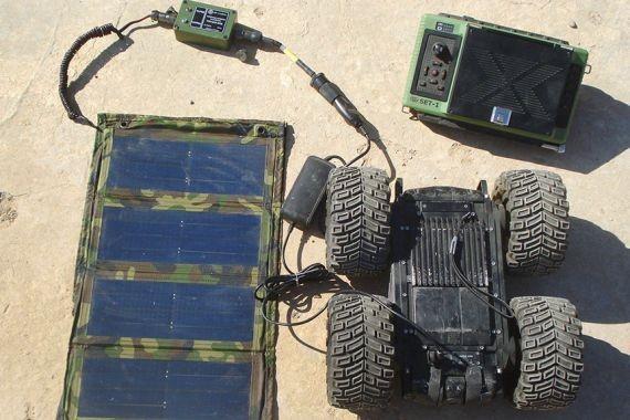 В войска начали поступать портативные солнечные зарядные устройства