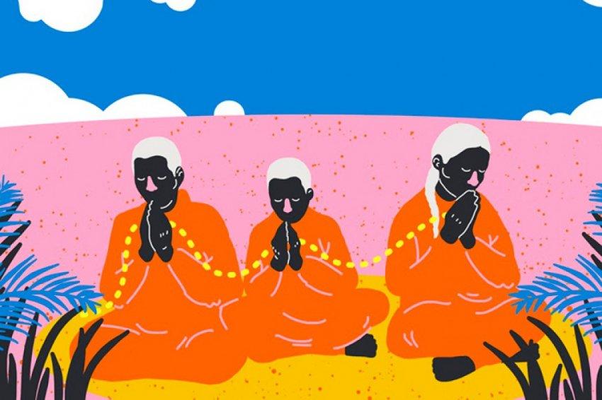 Медитация активирует нейроны просветления