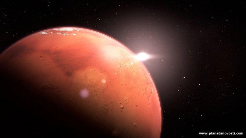 Ученые разгадали загадку ледяного слоя на южном полюсе Марса