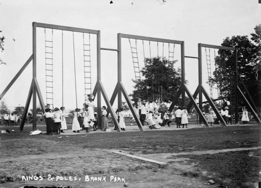 Какими были детские площадки 100 лет назад
