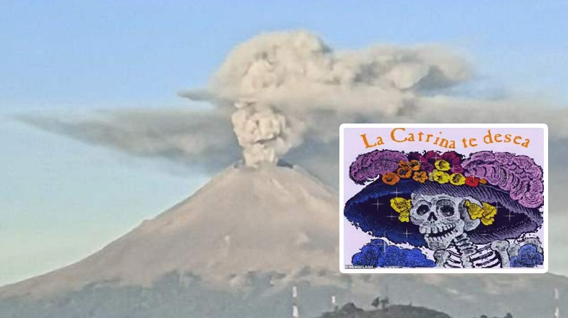 В Мексике перед праздником «День мертвых» над вулканом Попокатепетль появился череп