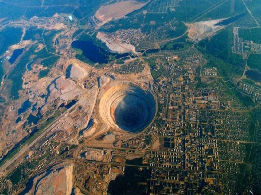 Якутский город на краю большой дыры