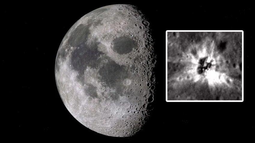 В лунном кратере астрономы заметили загадочный 17-метровый объект