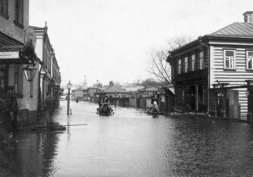 Потоп в Москве 1908 года на старых фото и открытках