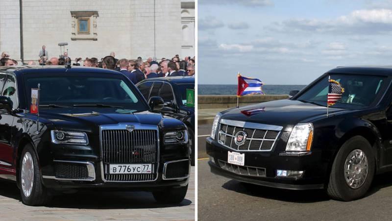 Сравнение лимузинов Путина и Трампа: какой круче