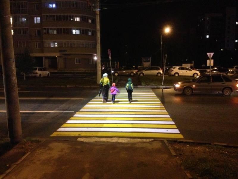 Первый лазерный пешеходный переход появился в Москве