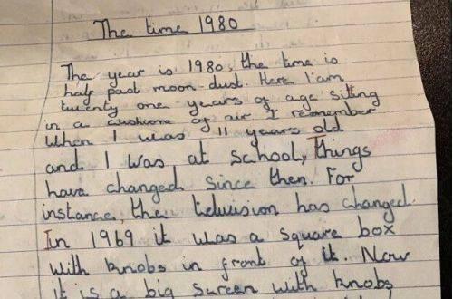 В школьном сочинении девочка из 1969 года удивительно точно предсказала будущее