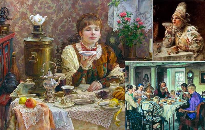 Для чего русские пили чай с полотенцем на загривке