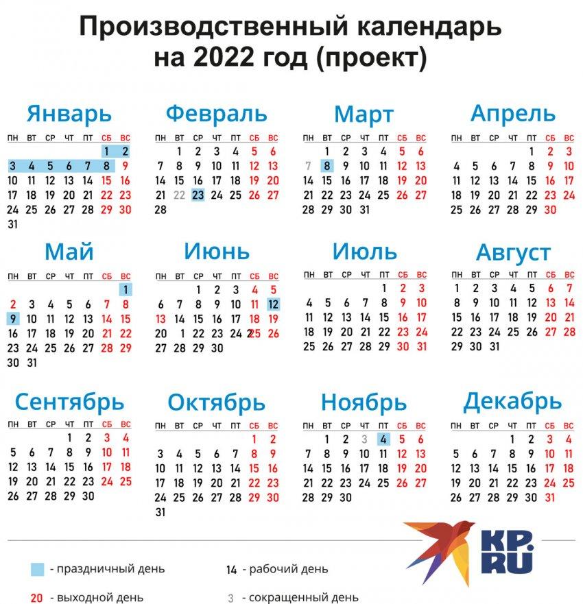 Сколько продлятся новогодние праздники в 2022 году в России