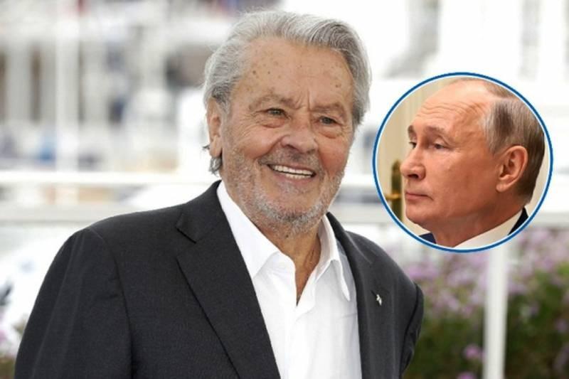 Заявление Ален Делона о Путине: за что французский актер уважает российского президента