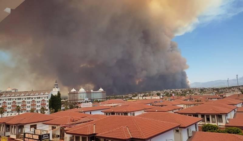 Какая обстановка сложилась в некоторых районах Турции из-за пожара